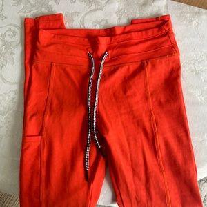 Celestial bodiez orange hybrid leggings